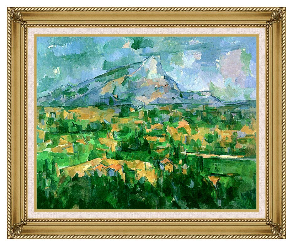 Paul Cezanne Mont Sainte-Victoire 1904 with Gallery Gold Frame w/Liner