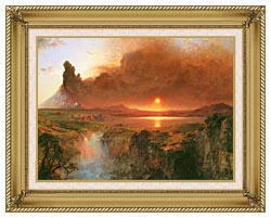 Frederic Edwin Church Cotopaxi Detail canvas with gallery gold wood frame