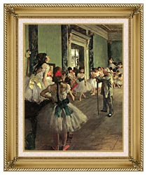 Edgar Degas Dance Class canvas with gallery gold wood frame