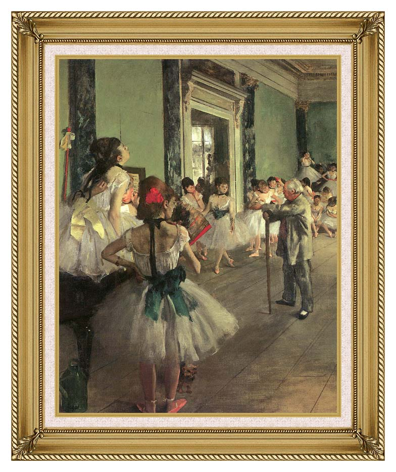 Edgar Degas Dance Class with Gallery Gold Frame w/Liner