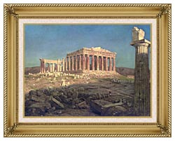 Frederic Edwin Church The Parthenon Detail canvas with gallery gold wood frame