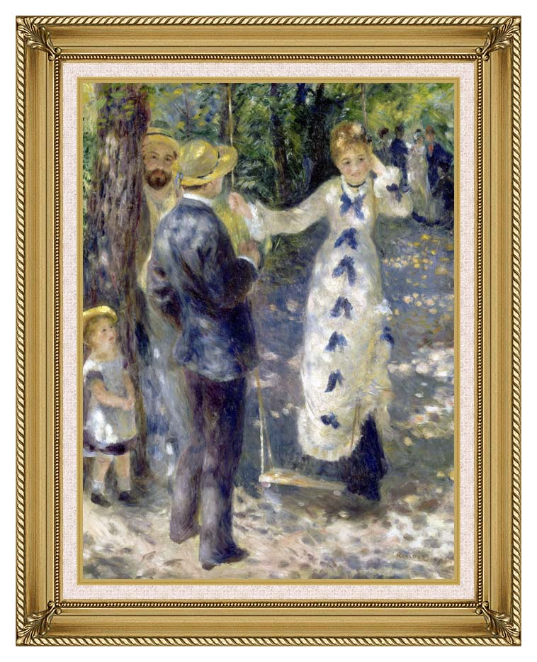 Pierre Auguste Renoir The Swing with Gallery Gold Frame w/Liner