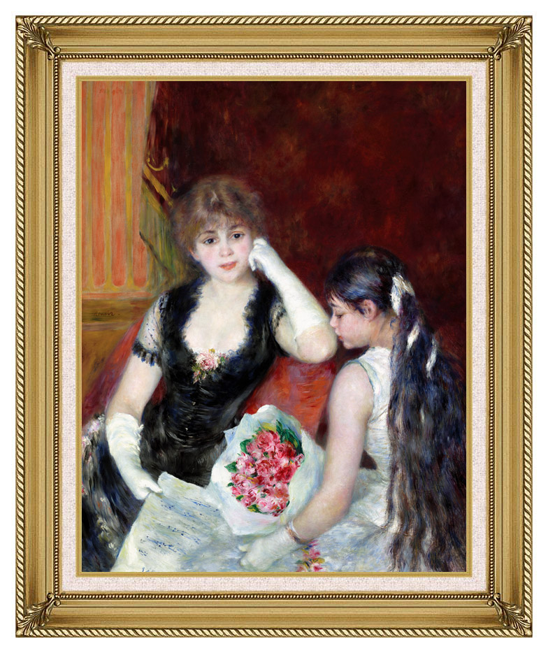 Pierre Auguste Renoir At the Concert with Gallery Gold Frame w/Liner