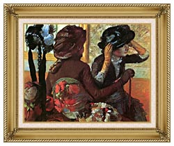 Edgar Degas At The Milliners canvas with gallery gold wood frame