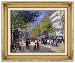 Pierre Auguste Renoir The Great Boulevards canvas with gallery gold wood frame