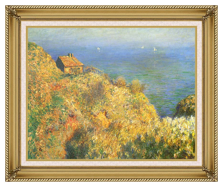 Claude Monet The Fisherman's House, Varengeville with Gallery Gold Frame w/Liner