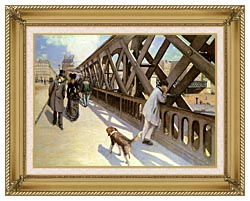 Gustave Caillebotte Le Pont De Leurope canvas with gallery gold wood frame