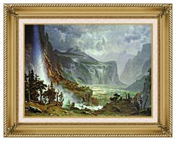 Albert Bierstadt The Domes Of The Yosemite canvas with gallery gold wood frame