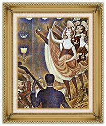 Georges Seurat Le Chahut canvas with gallery gold wood frame