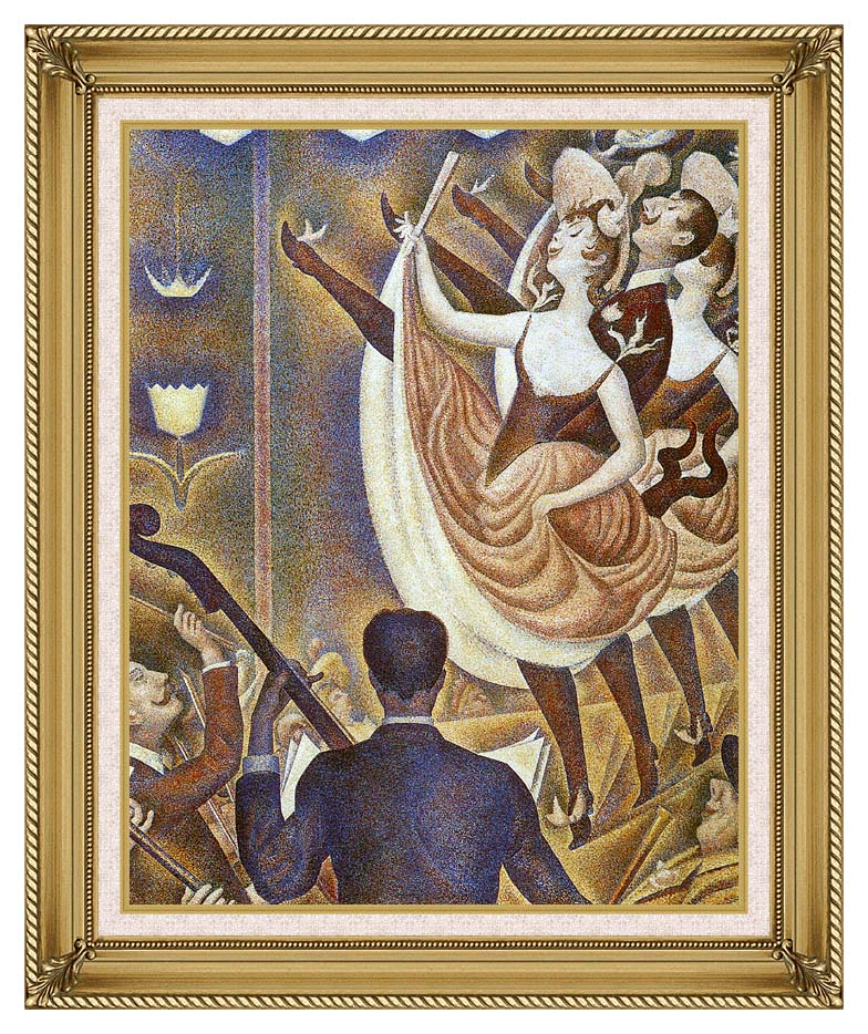 Georges Seurat Le Chahut with Gallery Gold Frame w/Liner
