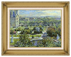 Claude Monet The Tuileries canvas with gallery gold wood frame