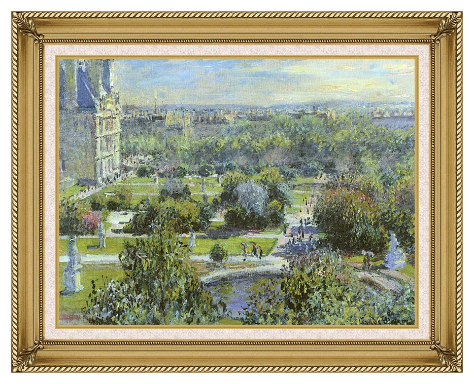 Claude Monet The Tuileries with Gallery Gold Frame w/Liner