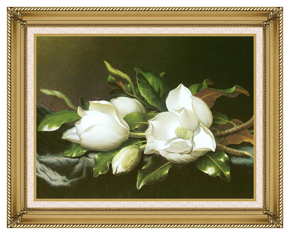 Martin Johnson Heade Magnolias (detail) with Gallery Gold Frame w/Liner