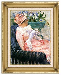 Mary Cassatt The Cup Of Tea canvas with gallery gold wood frame