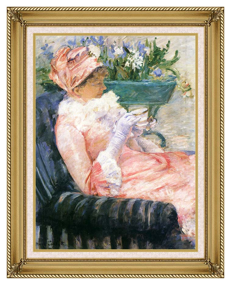 Mary Cassatt The Cup of Tea with Gallery Gold Frame w/Liner