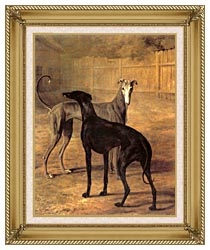 Jacques Laurent Agasse Rolla And Portia canvas with gallery gold wood frame