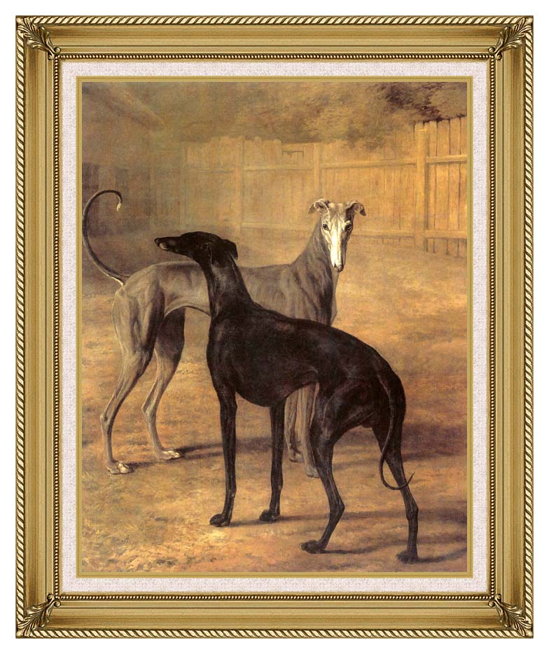 Jacques Laurent Agasse Rolla and Portia with Gallery Gold Frame w/Liner