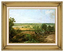 John Constable View Of Dedham canvas with gallery gold wood frame