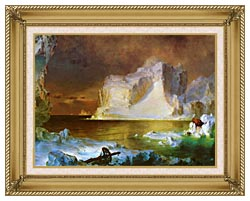 Frederic Edwin Church The Icebergs Detail canvas with gallery gold wood frame