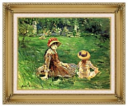 Berthe Morisot In The Garden At Maurecourt canvas with gallery gold wood frame