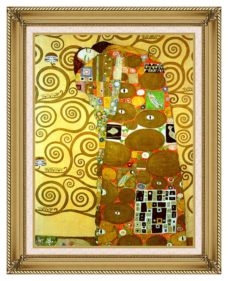 Gustav Klimt Fulfillment (detail) with Gallery Gold Frame w/Liner