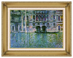 Claude Monet Venice Palazzo Da Mula canvas with gallery gold wood frame