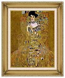 Gustav Klimt Adele Bloch Bauer I Detail canvas with gallery gold wood frame