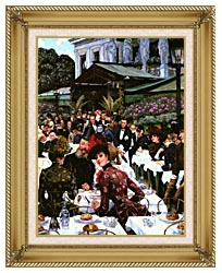 James Tissot The Painters And Their Wives canvas with gallery gold wood frame