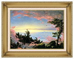 Frederic Edwin Church Above The Clouds At Sunrise canvas with gallery gold wood frame