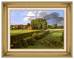 John Constable Golding Constables Flower Garden canvas with gallery gold wood frame