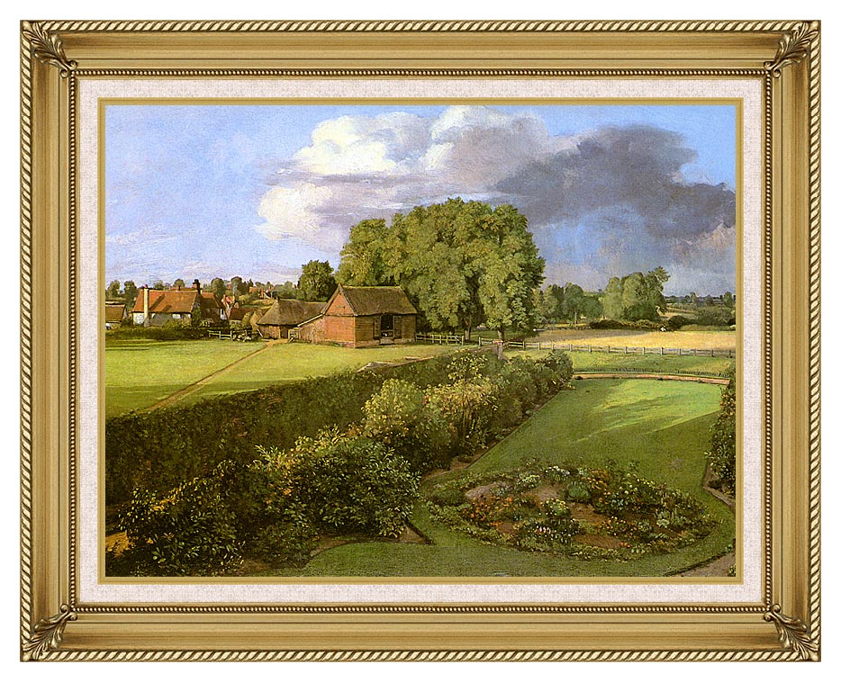 John Constable Golding Constable's Flower Garden with Gallery Gold Frame w/Liner