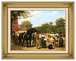 Jacques Laurent Agasse The Country Fair canvas with gallery gold wood frame
