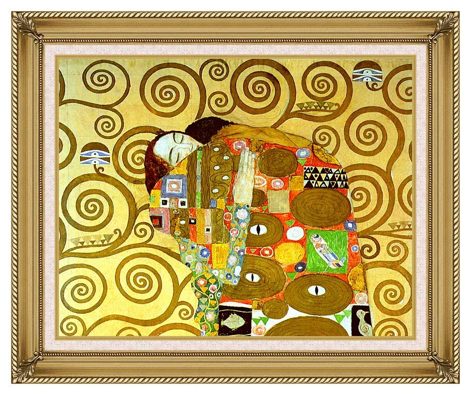 Gustav Klimt Fulfillment (close-up detail) with Gallery Gold Frame w/Liner