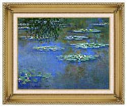 Claude Monet Water Lilies 1903 canvas with gallery gold wood frame