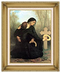 William Bouguereau All Saints Day canvas with gallery gold wood frame