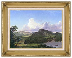Frederic Edwin Church Home By The Lake canvas with gallery gold wood frame