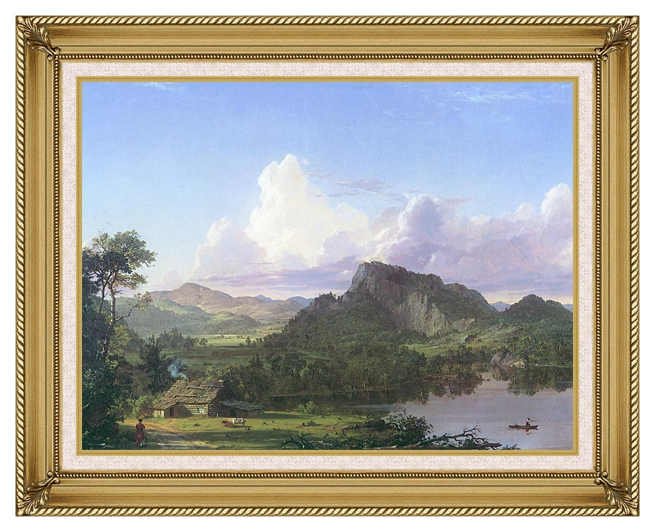 Frederic Edwin Church Home by the Lake with Gallery Gold Frame w/Liner