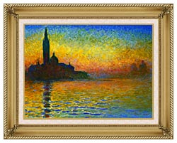 Claude Monet San Giorgio Maggiore At Dusk Venice canvas with gallery gold wood frame