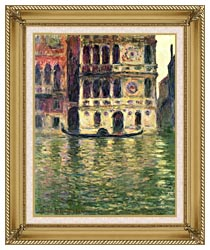 Claude Monet Palazzo Dario canvas with gallery gold wood frame