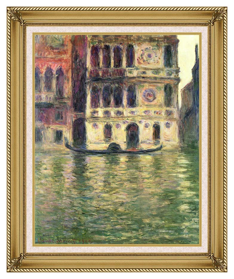 Claude Monet Palazzo Dario with Gallery Gold Frame w/Liner