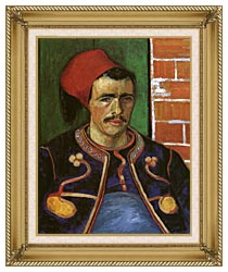 Vincent Van Gogh The Zouave canvas with gallery gold wood frame