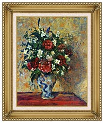 Camille Pissarro Vase Of Flowers canvas with gallery gold wood frame