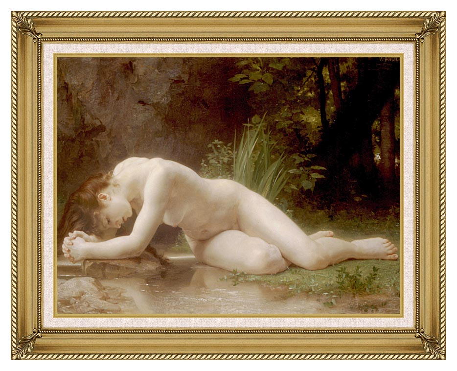 William Bouguereau Biblis with Gallery Gold Frame w/Liner