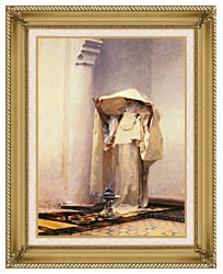 John Singer Sargent Fumee Dambre Gris canvas with gallery gold wood frame
