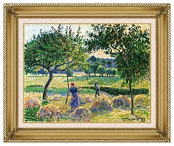 Camille Pissarro Bountiful Harvest canvas with gallery gold wood frame