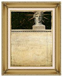 Gustav Klimt Poster Design International Exhibition canvas with gallery gold wood frame