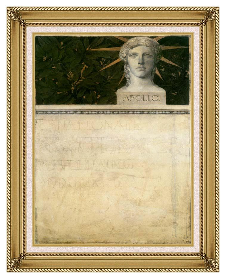Gustav Klimt Poster Design, International Exhibition with Gallery Gold Frame w/Liner