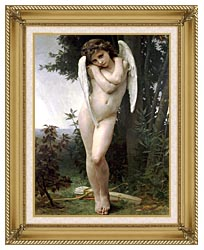 William Bouguereau Cupidon canvas with gallery gold wood frame
