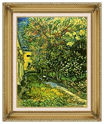 Vincent Van Gogh The Garden Of Saint Paul Hospital canvas with gallery gold wood frame