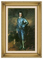 Thomas Gainsborough The Blue Boy canvas with gallery gold wood frame